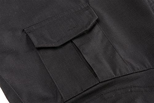 TACVASEN Paintball Tactical Trousers Airsoft Pants Knee Pads Black