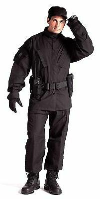 shirt coat acu black tactical rip stop swat cloth rothco 545