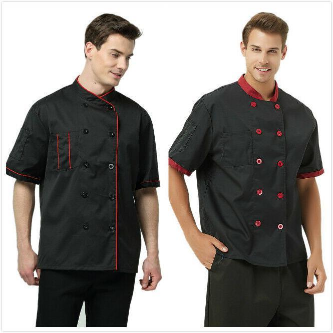 TopTie Short Sleeve Chef Coat Jacket Cooking Cook