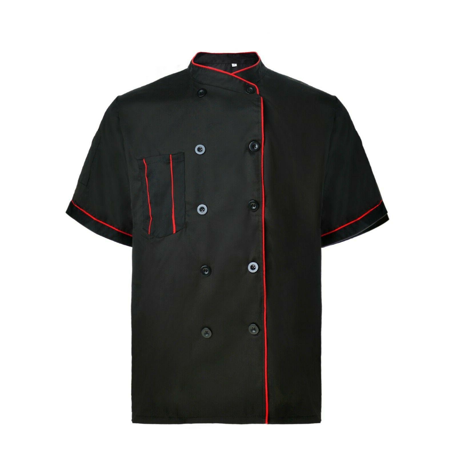 TopTie Short Coat Jacket Unisex Kitchen Cooking
