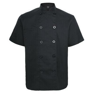 short sleeve chef coat jacket unisex uniform
