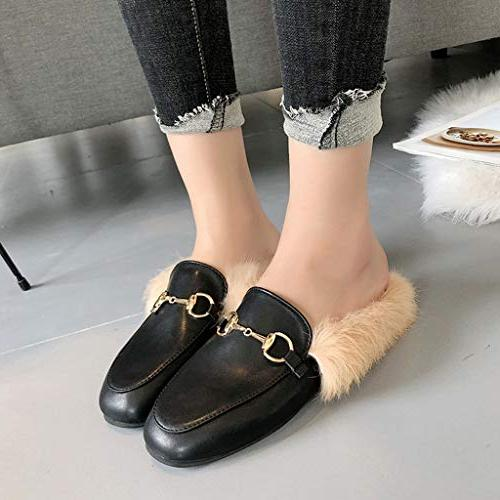 Shusuen Flat Heel Loafers Doug Short Plush