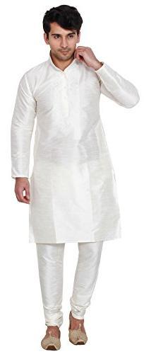 Silk Embroidered Mens Kurta Pajama India Clothing