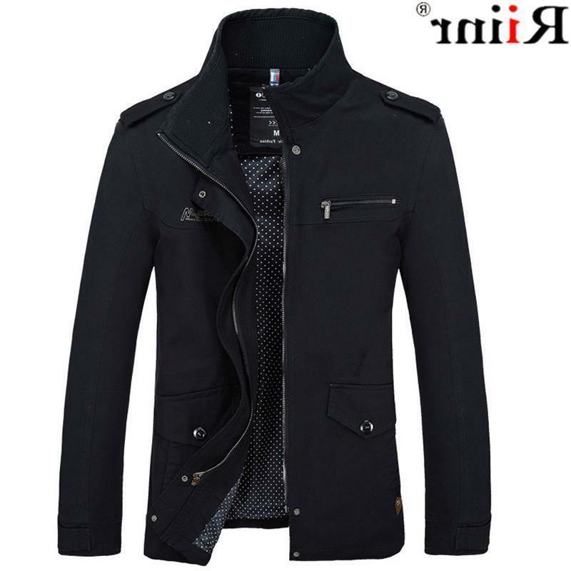 slim autumn fit jacket coat mens casual