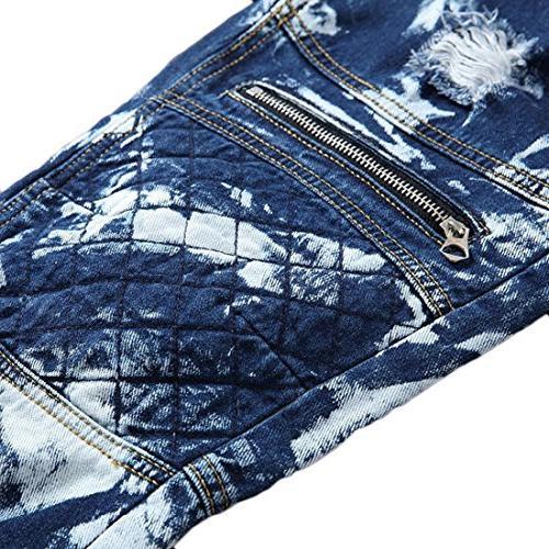 Just Men's Slim Fit Camo Zip Jeans