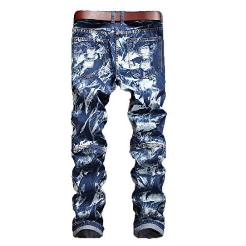 Just Logo Men's Slim Zip Jeans