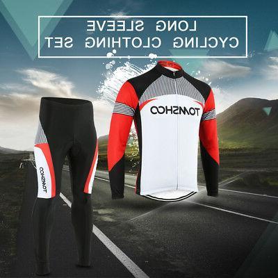 spring cycling bike long sleeve clothing set