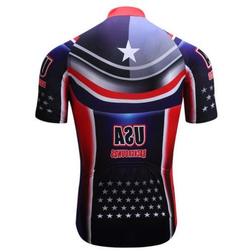 Summer Men's USA Cycling Jersey Short Bike Bicycle Clothing