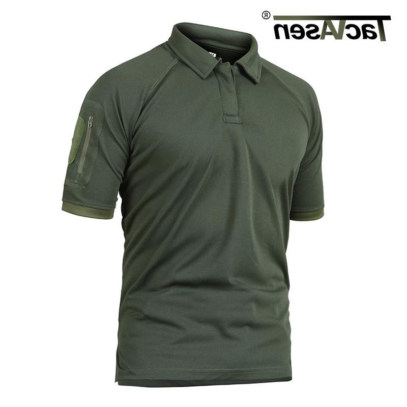 TACVASEN T-shirts Golf Polos Quick