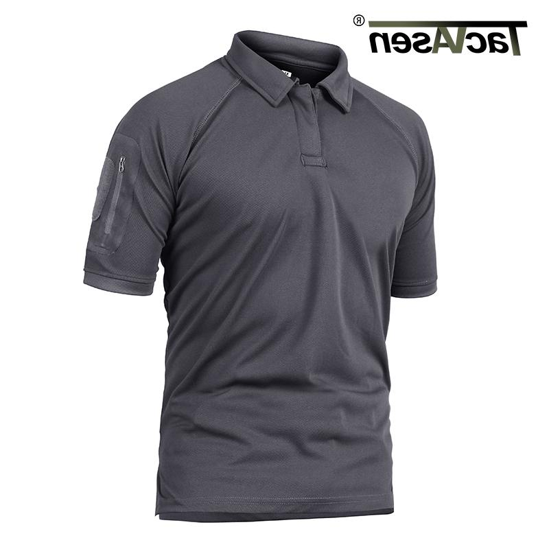 TACVASEN Polos Tactical Quick Dry Mesh Shirt