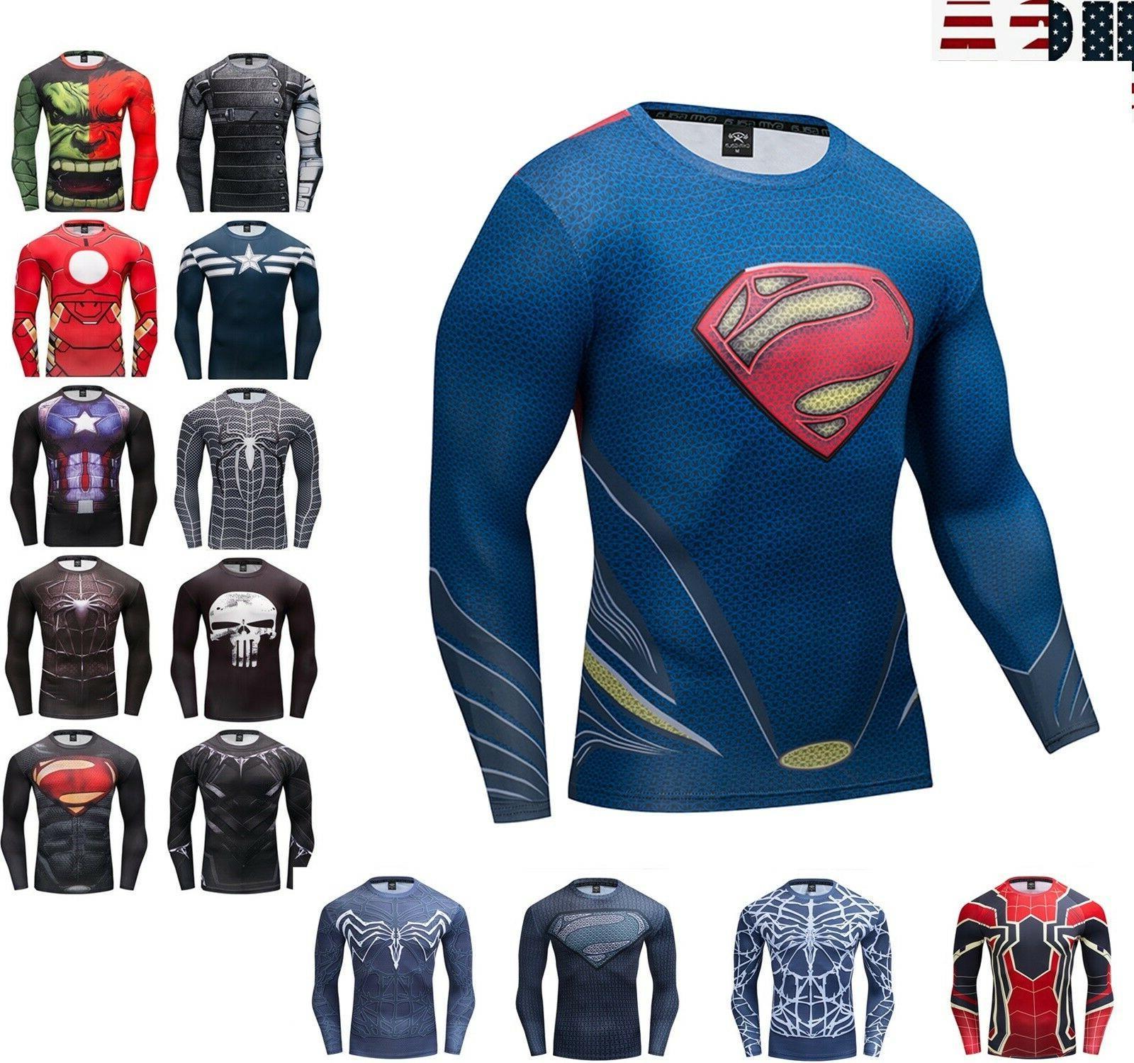 superman long sleeve t shirt men s