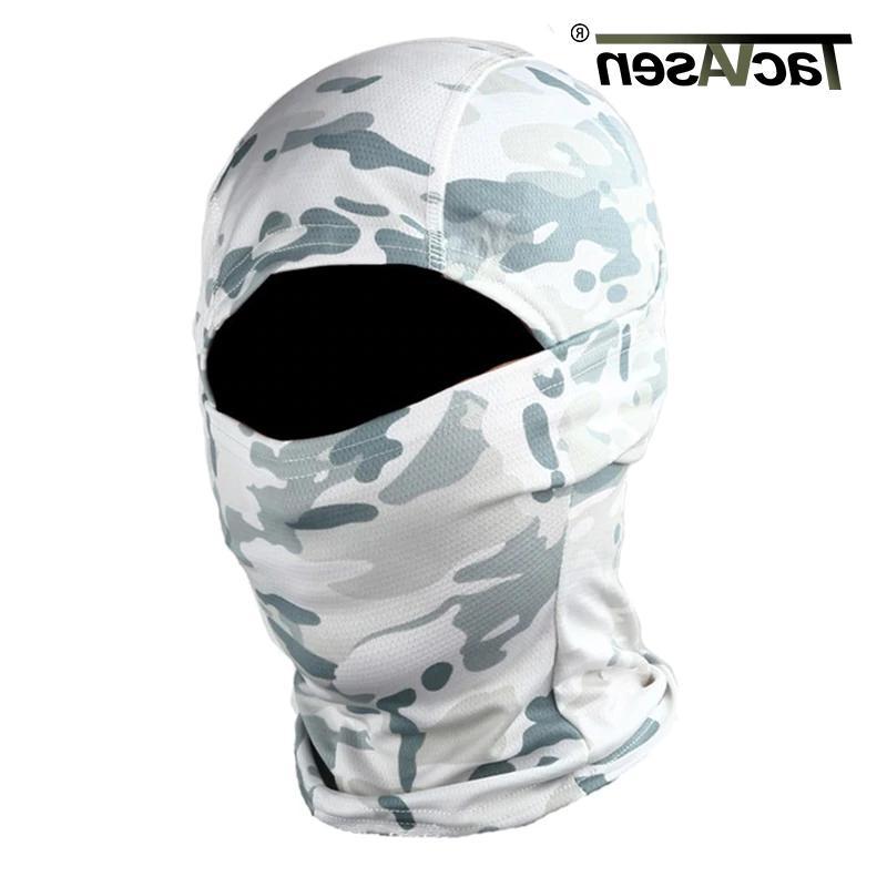 TACVASEN Full Face Mask Hunt Shoot Army