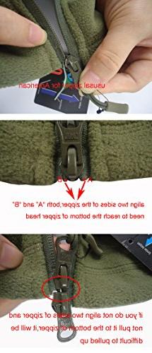 TACVASEN Tactical Fleece Jacket