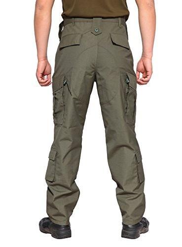 TACVASEN Men's Camo Uniform Pants Green
