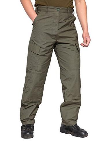 TACVASEN Men's Camo Cargo Pants Trousers Green
