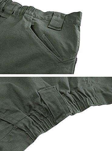 TACVASEN Men's Ops Hiking Hunting Trousers Gray