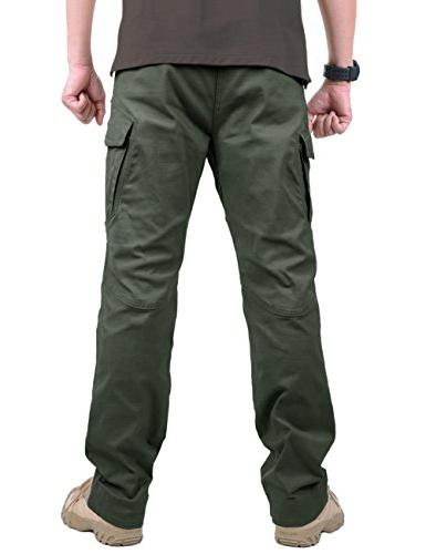 TACVASEN Tactical Urban Ops Pants Climbing Trousers Gray Green,38