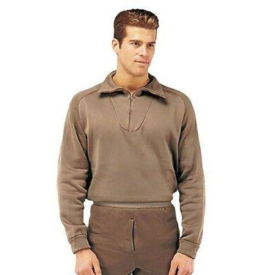 thermal top polypro zip brown