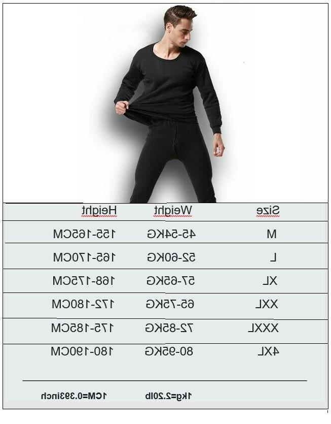 Thermal Underwear Set Men Winter Thick Clothing