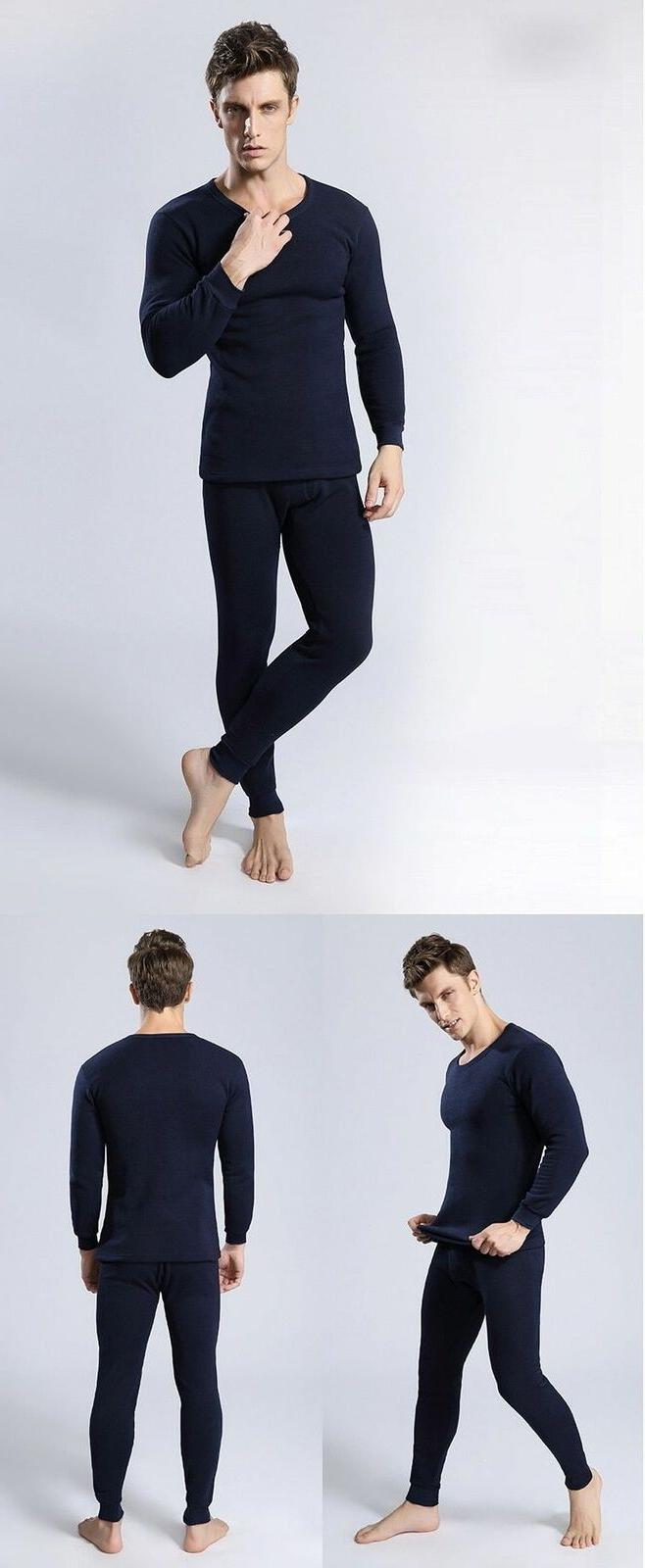 Thermal Men Winter Clothes Thick Thermo Clothing Solid