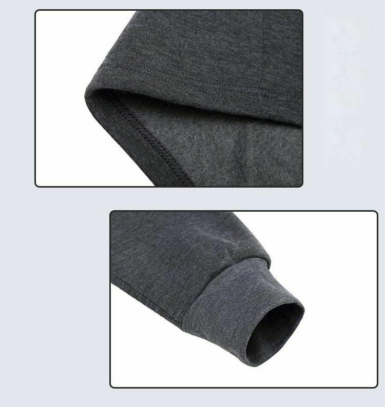 Thermal Underwear Men Winter Clothes Thick Thermo Solid