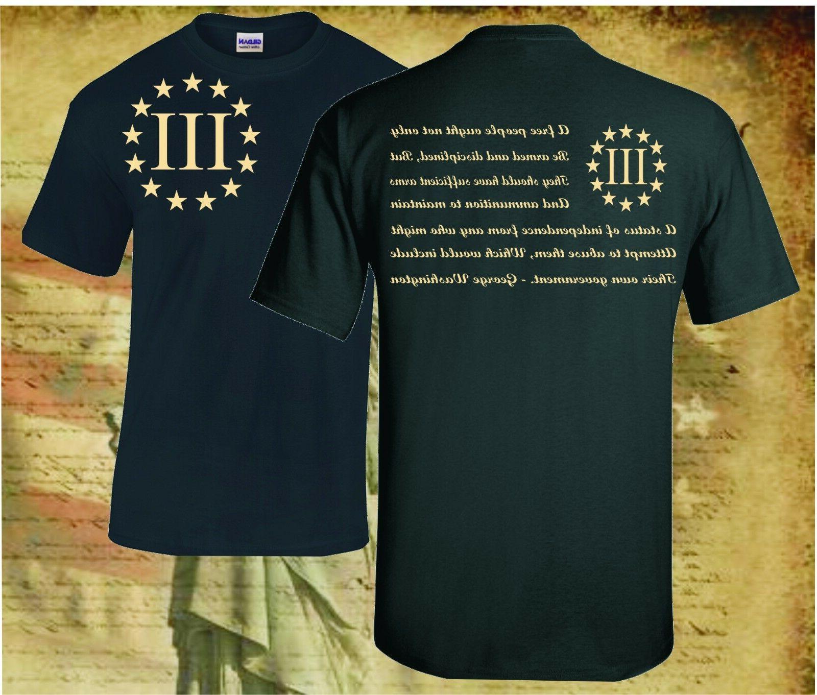 three percenter patriot apparel usa t shirt