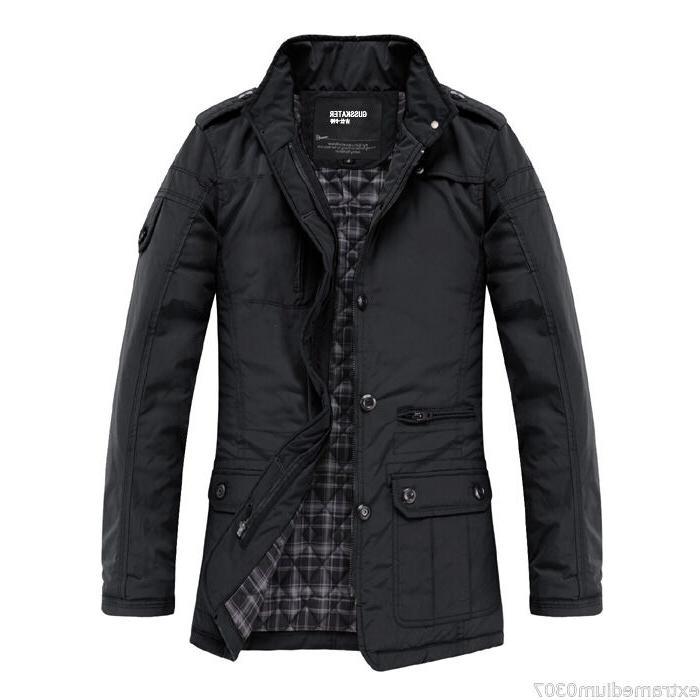 New Men's Slim Clothes Winter Warm Overcoat Casual