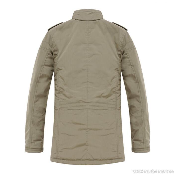 New Men's Slim Winter Warm Overcoat