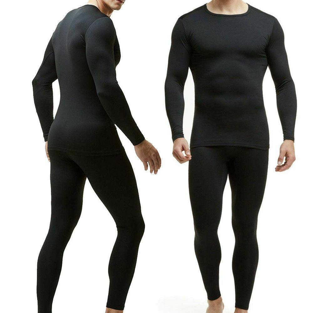Thin Lined Long Johns Men Thermo Suit Winter Sets