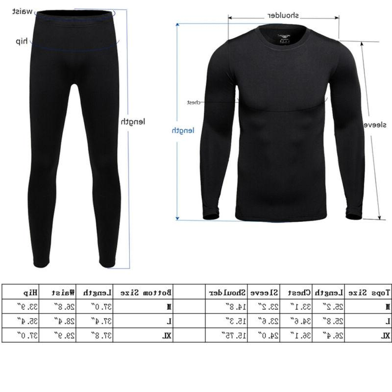 Thin Lined Johns Underwear For Men Thermo Suit Sets
