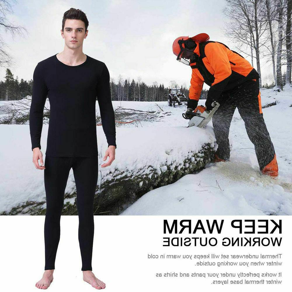 Thin Fleece Lined Johns Thermal Underwear For Men Suit