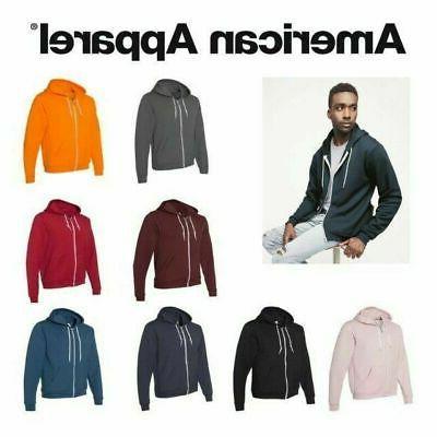 unisex flex fleece zip hoodie f497w hooded