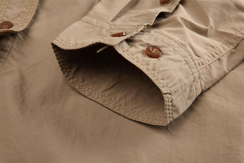 US Multi-Pocket Shirt Shirts Hiking Tops T