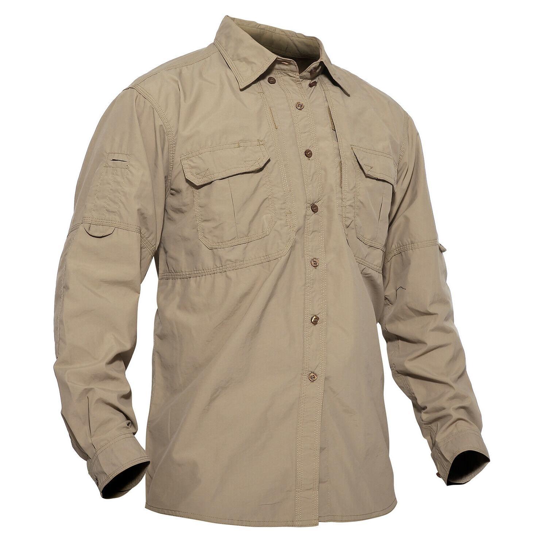 us m multi pocket outdoor shirt mens
