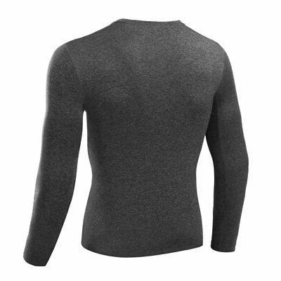 US Men T Shirt Layer Thermal Long Training