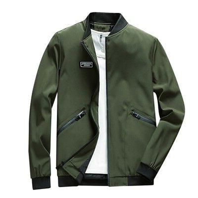 US Men's Casual Slim Jackets Coat Outerwear Autumn Clothes