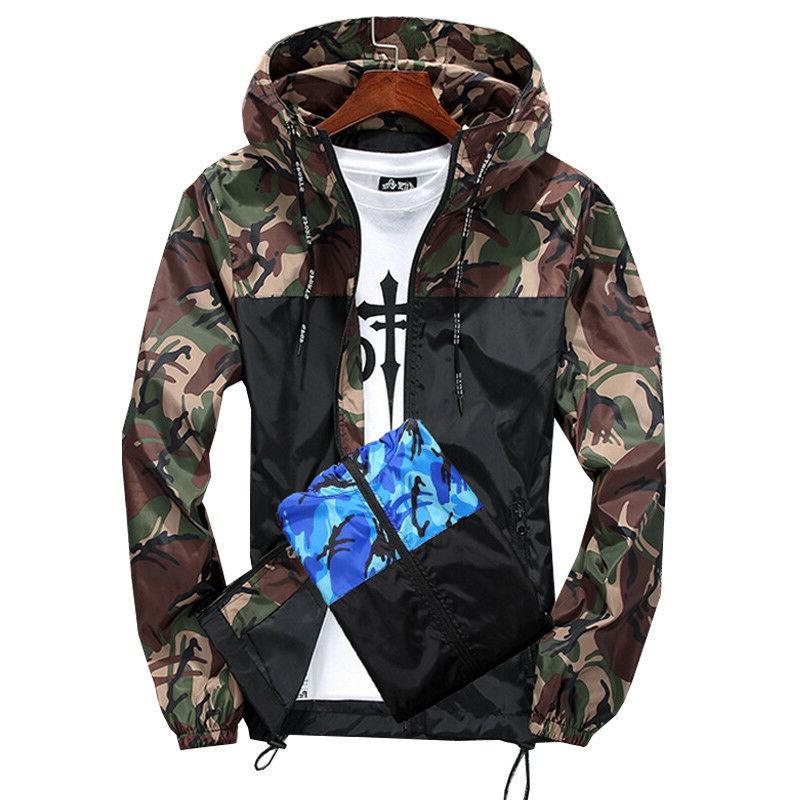 US Hoodies Clothing Windbreaker Sport Casual