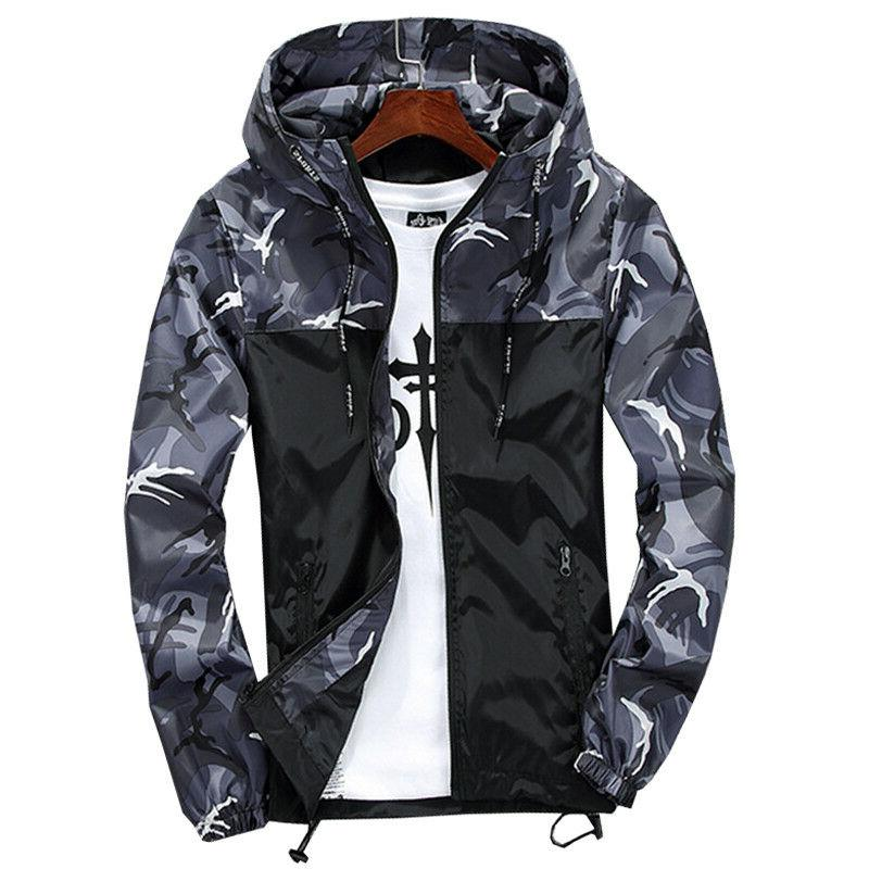 US Camouflage Hoodies Jacket Sport Casual