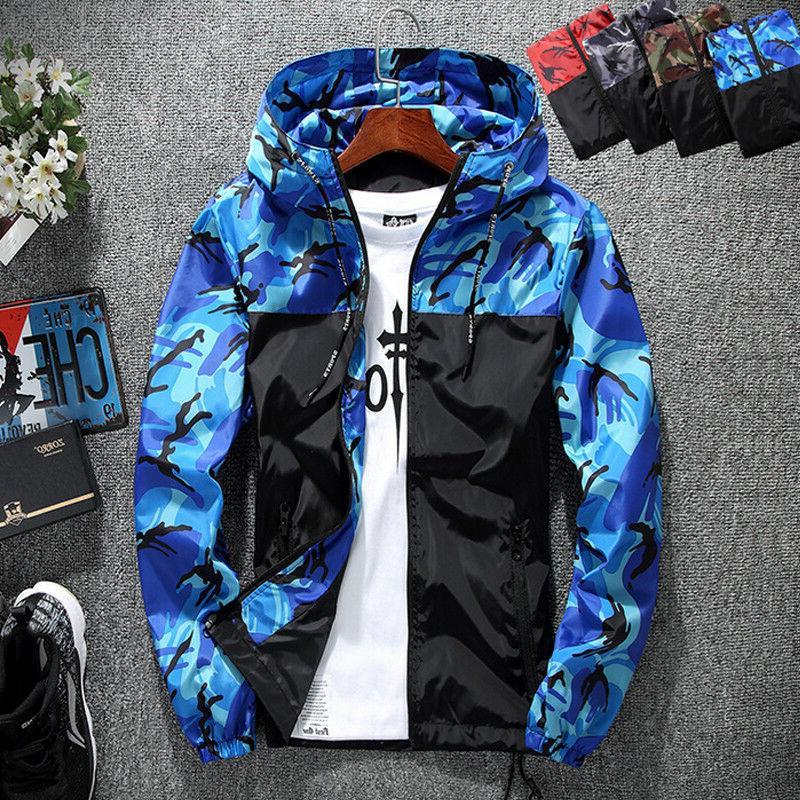 US Hoodies Jacket Clothing Windbreaker Sport Casual Outwear