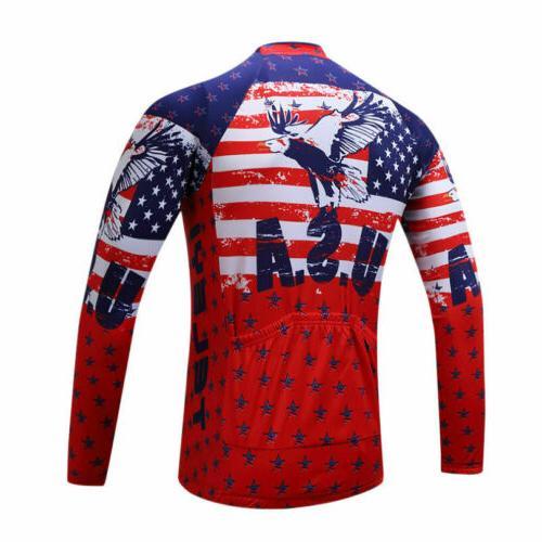 Cycling Jersey Men's Long Clothing Bike Wear Full Zipper Jackets
