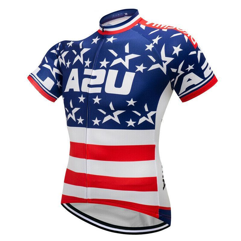 USA Flag Men's Tops Jerseys Short Sleeve Team