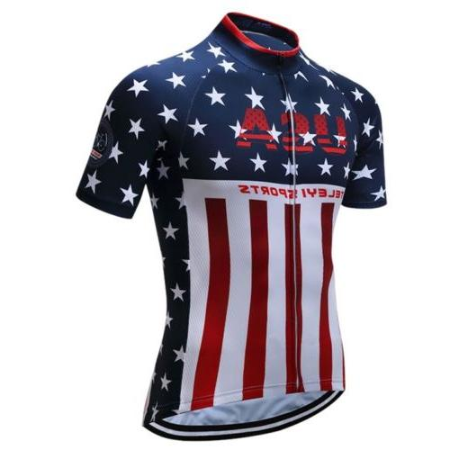 usa shirt men cycling jersey short sleeve