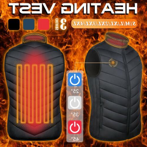 USB Heated Vest Men Thermal Jacket
