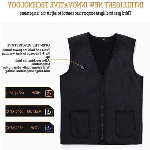 USB Vest Clothing Men Jacket Heated Pad Warmer