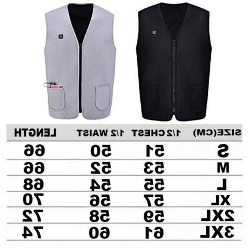 USB Vest Clothing Warm Heated Warmer