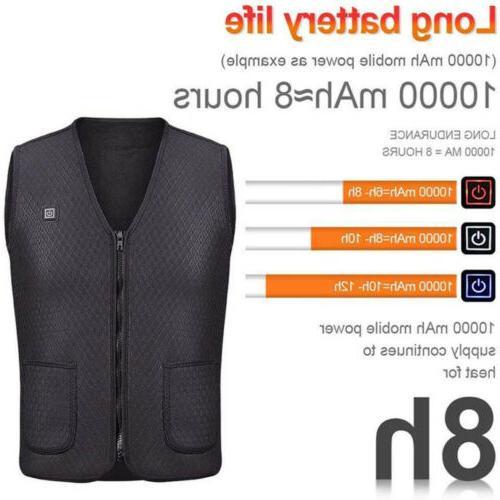 USB Clothing Men Jacket Warmer