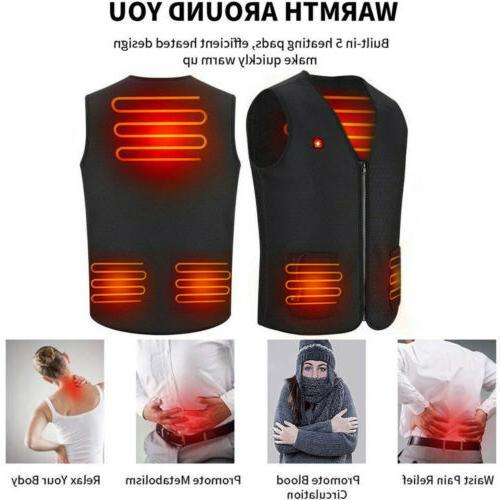 USB Clothing Men Jacket Warm Heated Body Warmer