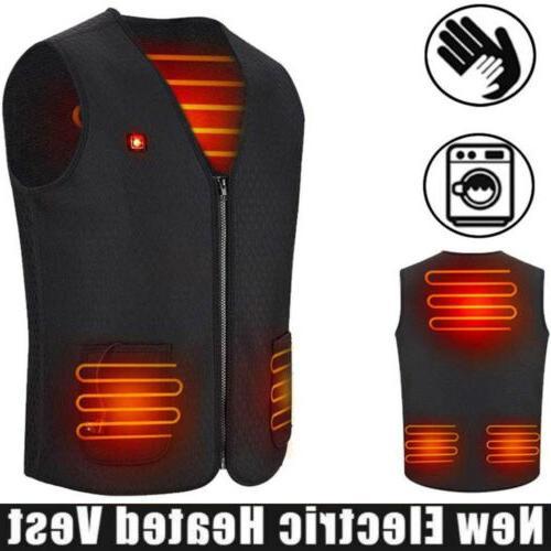 usb electric vest heated clothing men jacket