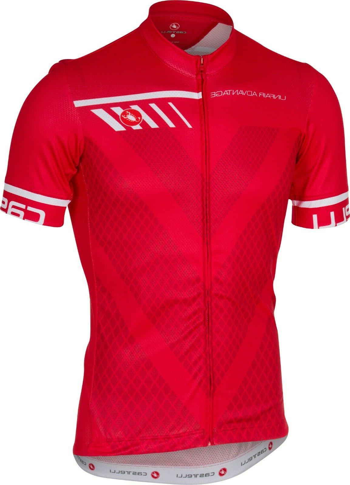 Castelli Velocissimo Men's Jersey Red Large : Best Buy