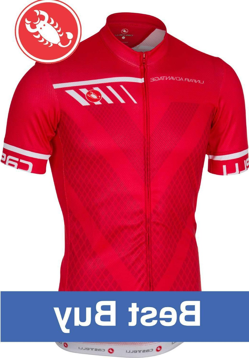 velocissimo men s cycling jersey red size